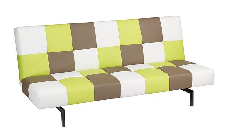Moderno y original sof cama polipiel de colores amarillo - Sofa cama original ...