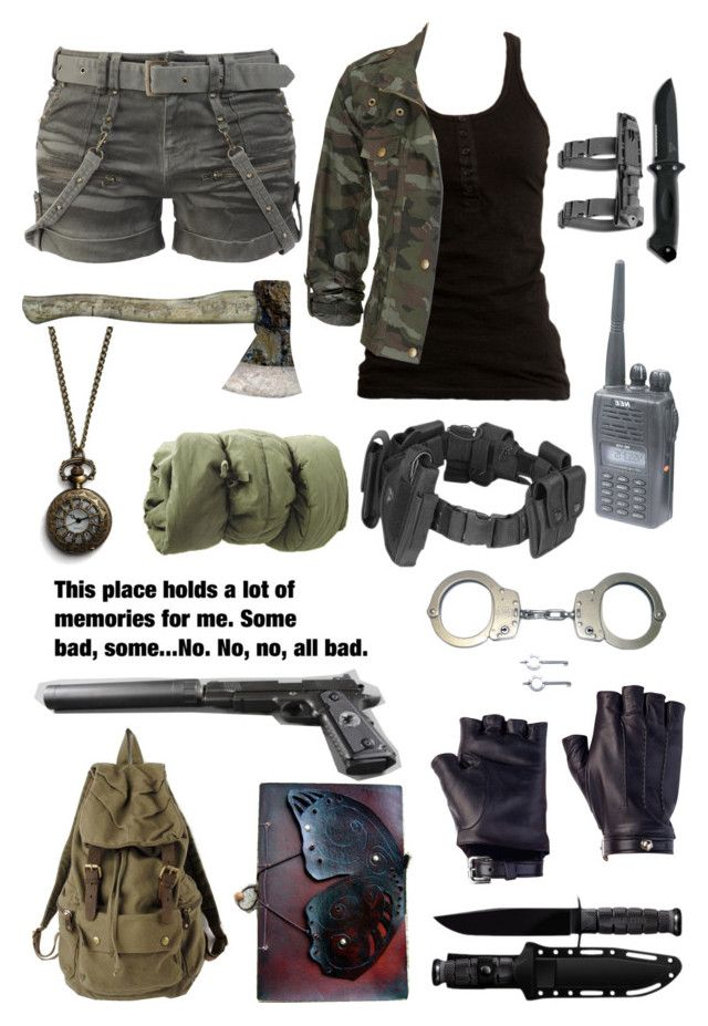 """Walking Dead (1)"" by hgmcbbk ❤ liked on Polyvore featuring Dr. Denim, INC International Concepts, POLICE, Smith & Wesson, Les Cinq, Monserat De Lucca and walkingdead"
