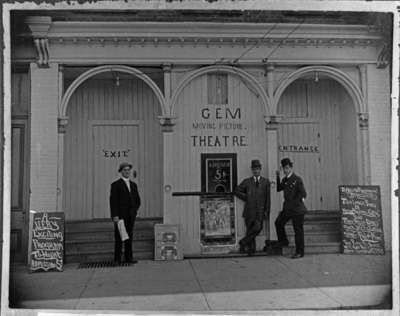 Gem Moving Picture Theatre, 1909. 211 Brock St. S.