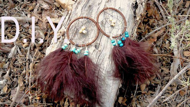 Tutoriel - D.I.Y. : Comment faire des boucles d'oreilles attrapes rêves (Dreamcatcher earrings)