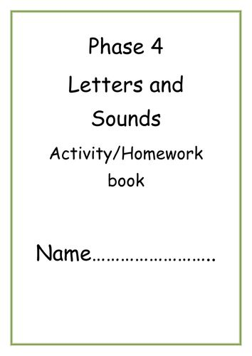 Letters and Sounds Phase 4 Activity/Homework pack