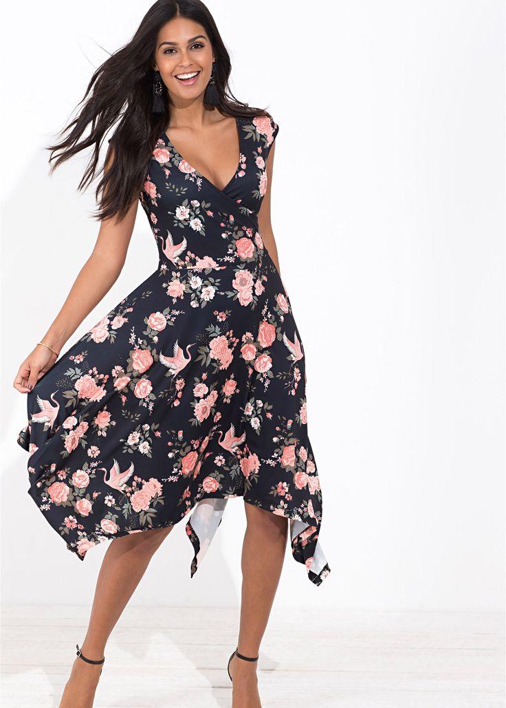Asymmetrisches Kleid: Must Have koralle geblümt - BODYFLIRT jetzt im Online Shop von bonprix.de ab ? 27,99 bestellen. Must Have: Webkleid mit wunderschönem ...