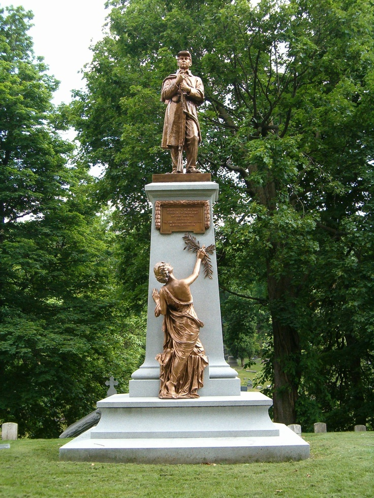 One of two Civil War statues at West Lawn Cemetery in Canton, Ohio