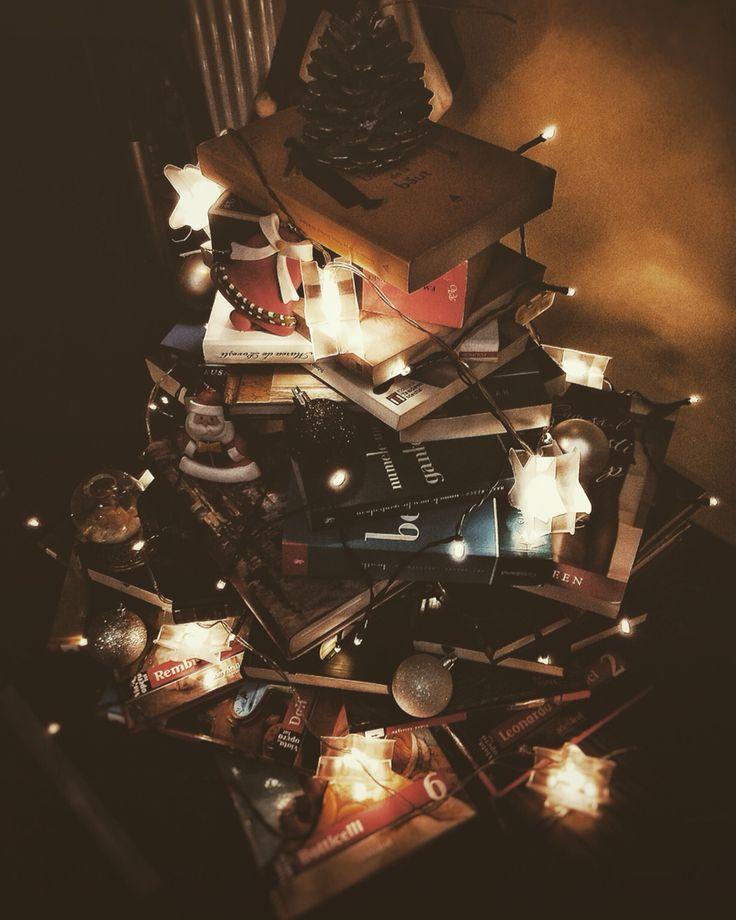 My Christmas tree made of books