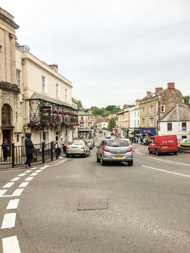 The town centre in Frome, Somerset, UK