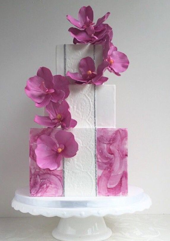 pink floral wedding cake ~ we ❤ this! moncheribridals.com #pinkweddingcake