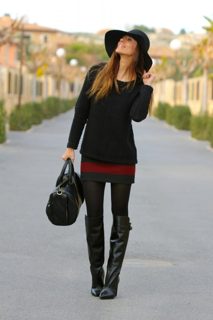 Inspiration request: Black knee high boots ...