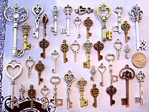 31 nuevas llaves esqueleto granos collar encantos por newideas31