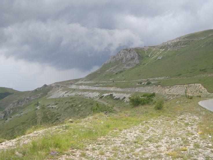 Dunkle Wolken in den Monti Sibillini