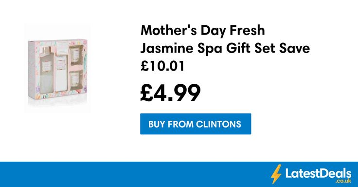 Mother's Day Fresh Jasmine Spa Gift Set with Candles Save £10.01, £4.99 at Clintons