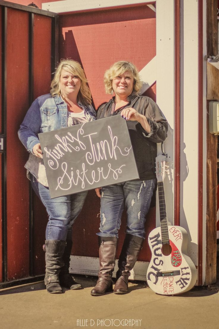 """Linda and Dixie, The Funky Junk Sisters, Vintage Market owners, entrepreneurs, designers and JuNkErS """"Junk Salvation"""" by Funky Junk Sisters"""