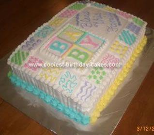 Coolest Baby Shower Quilt Cake