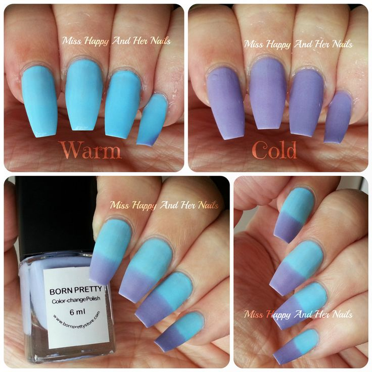 1Pc Blue Purple Temperature Change Color Nail Polish Thermal Changing Polish Multicolor Nail Polish Varnish No. #103-in Nail Polish from Health & Beauty on Aliexpress.com | Alibaba Group