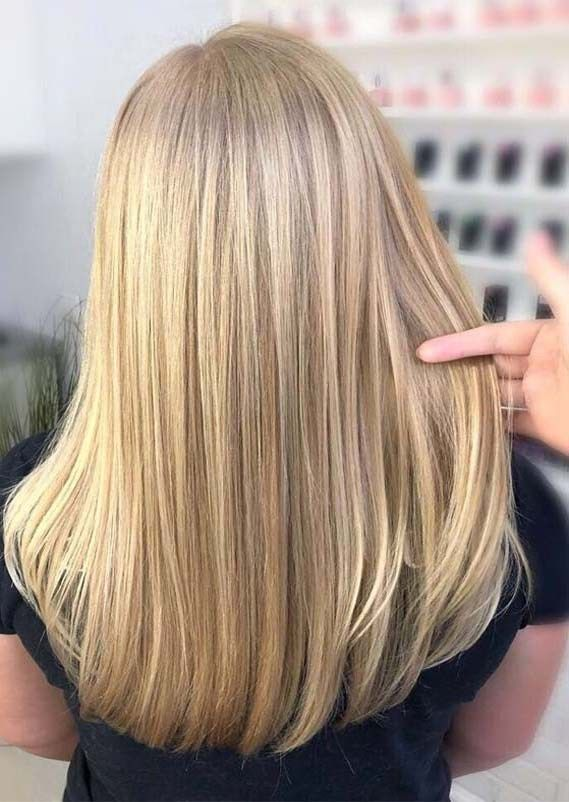 Fantastische balayaged glatte gerade Frisuren für Frauen 2019