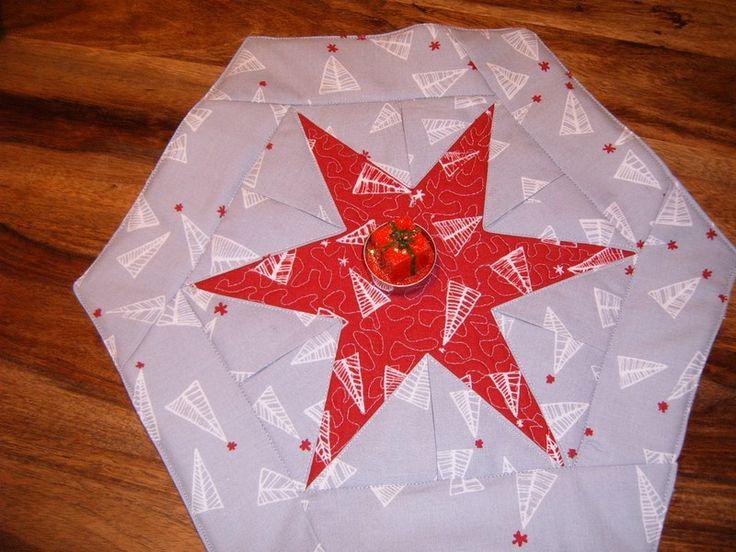 Weihnachtsdeko - Weihnachtsdecke, Weihnachtsstern - ein Designerstück von Stoff-und-Garn bei DaWanda