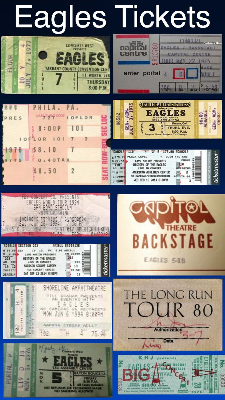 Eagles Tickets & Backstage passes