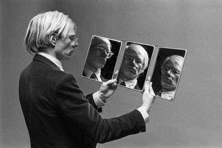 Andy Warhol aux miroirs , photographie de Philippe Morillon
