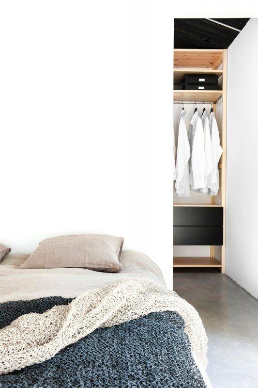 bedroom with walk in closet behind bed maja by deko. Interior Design Ideas. Home Design Ideas