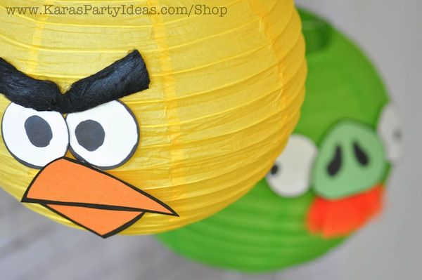 angry bird birthday party ideas | These Angry Birds party lanters were simple to make and added so much ...