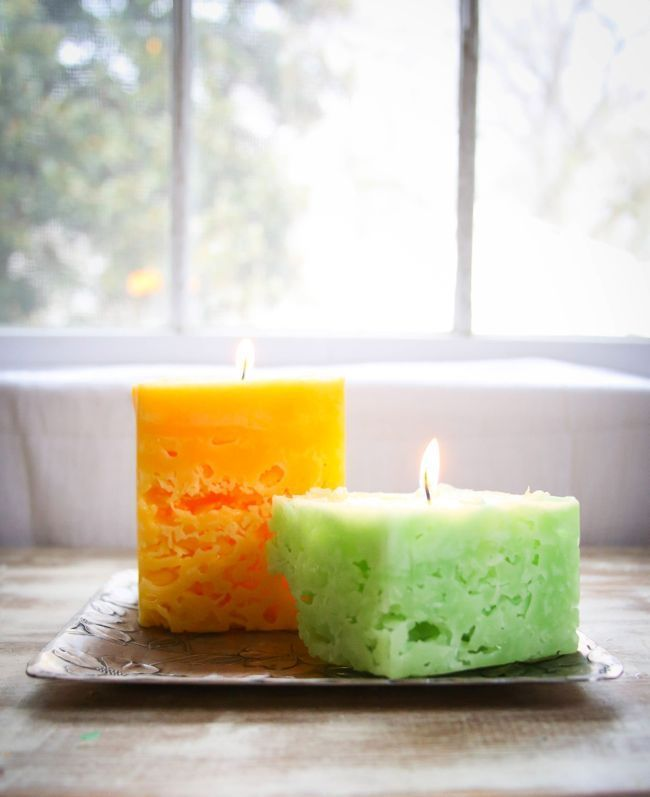Recycle Old Candles and Make Ice Candles | http://hellonatural.co/recycle-old-candles-and-make-ice-candles/
