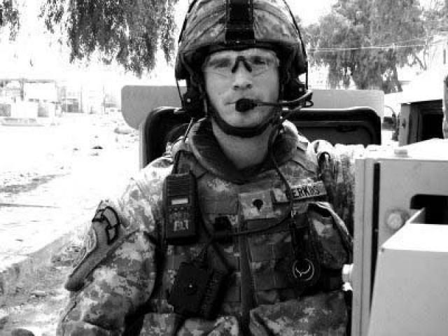 On Friday, July 11, 2014, we honored Army Sergeant Andrew C. Perkins who, while serving w/C Co. 2/505 in Iraq in '07, witnessed a passing patrol vehicle hit an IED. When Sgt. Perkins saw fellow burning Paratroopers, he ran with an extinguisher to douse the flames. Despite the intense fire and exploding ammo, Sgt. Perkins ran back multiple times to assist the burning Soldiers. Fatefully, a second IED exploded and killed him. For his actions, Sgt. Perkins was posthumously awarded the Silver…