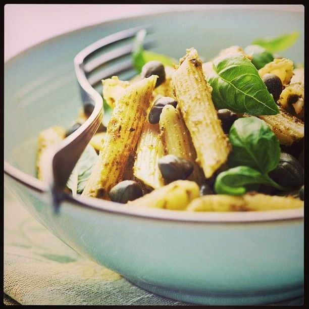 Mmm perfect easy dinner from our special Christmas cookbook!! Sign up at mayvers.com.au - (we will be sending it out next week) http://www.mayvers.com.au/lemon-tahini-basil-caper-pasta