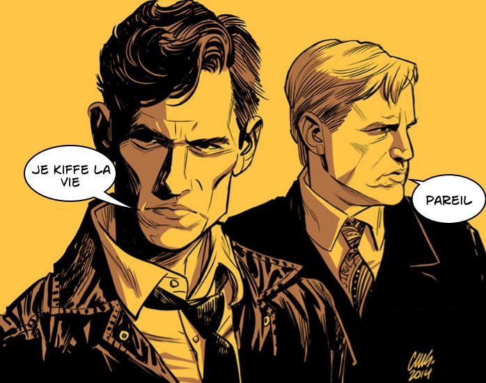 Rust Cohle et Martin Hart, les deux boute-en-train de True Detective saison 1