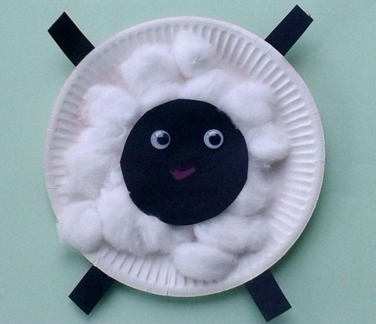 Manualitats amb plats de plàstic: animals de granja per al més petits / tot nens
