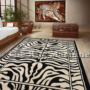 African Themed Rugs Africa Safari Zebra Skin Theme Modern Floor Rug Mat 50x80 Rrp 50