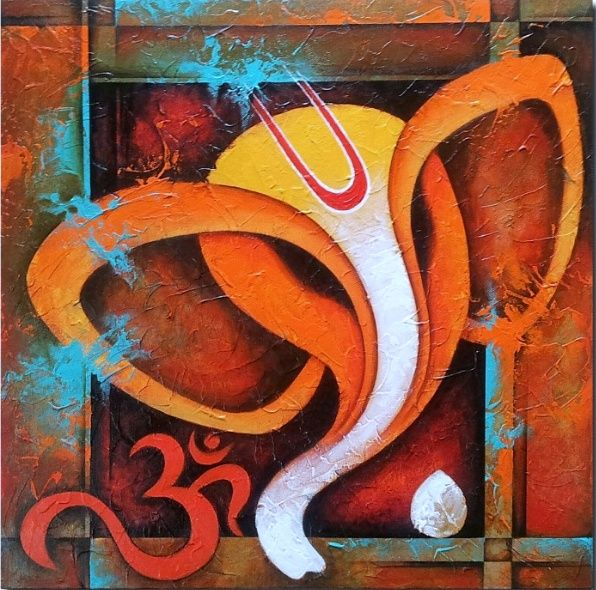 Rare Thoughts Art Gallery Lord Ganesha Acrylic Painting