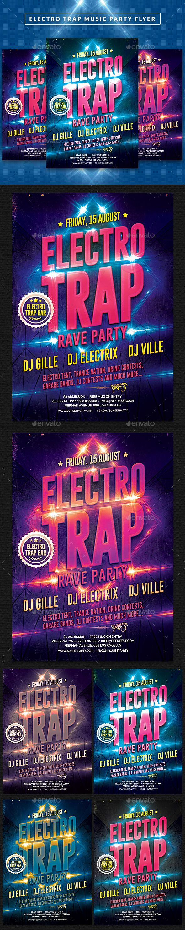 Circulaire Electro Trap Music Party   – music lettering