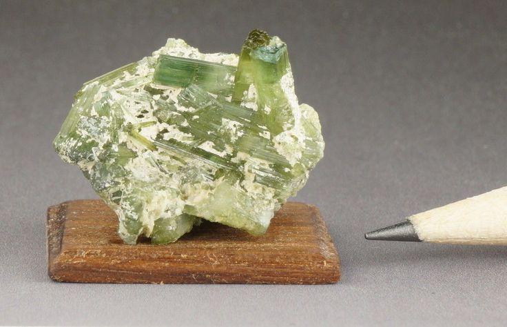 Miniature Dollhouse Green Elbaite Tourmaline Crystals Brazil October Stone 1 12…