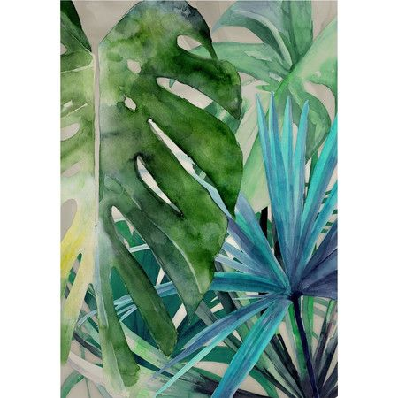 Add this tropical watercolor print to a gallery wall for an artful touch, or frame it and lean it on a bookshelf for a laid-back look.