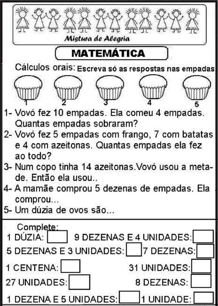 Diversas Atividades De Matematica Series Iniciais De