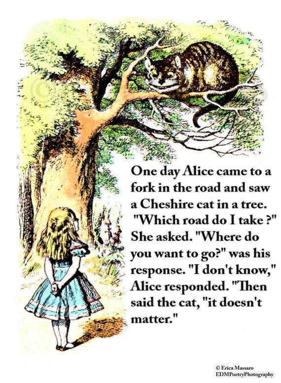 The Cheshire Cat- | Alice in Wonderland | Lewis Carroll | Vintage Art  Illustration Print | Inspirational Quotes | Erica Massaro, EDMPoetryPhotography on Etsy.