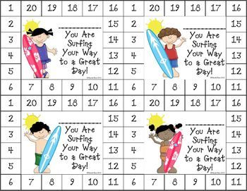 """Differentiated Behavior Punch Cards (Beach Theme) - As we all know, """"One size doesn't fit all."""" These cute incentive cards can be used to motivate a wide range of students. These can be used for behavior, homework, reading, and math achievement. $"""