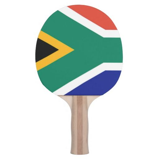 South Africa flag ping pong bat