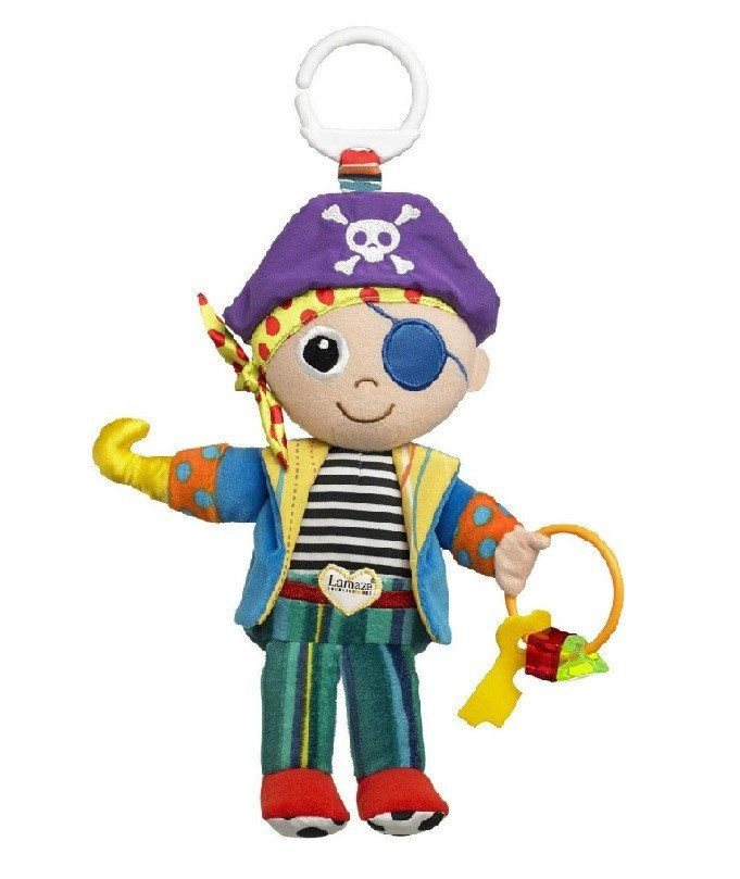 Lamaze Yo Ho Horace - www.totswarehouse.com  Lamaze Yo Ho Horace is the perfect soft pirate toy for baby.      With his skull and cross bones hat and jangly bell ring he will provide hours of entertainment whilst stimulating senses with his bright colours and textures.      Suitable from birth  Lamaze Yo Ho Horace features a soft body with textures and crinkles. Perfect for amusing and stimulating baby. #baby #lamaze #toy