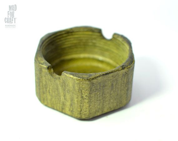 Distressed Bronze Colored Industrial Design Metal by MadForCraftGR