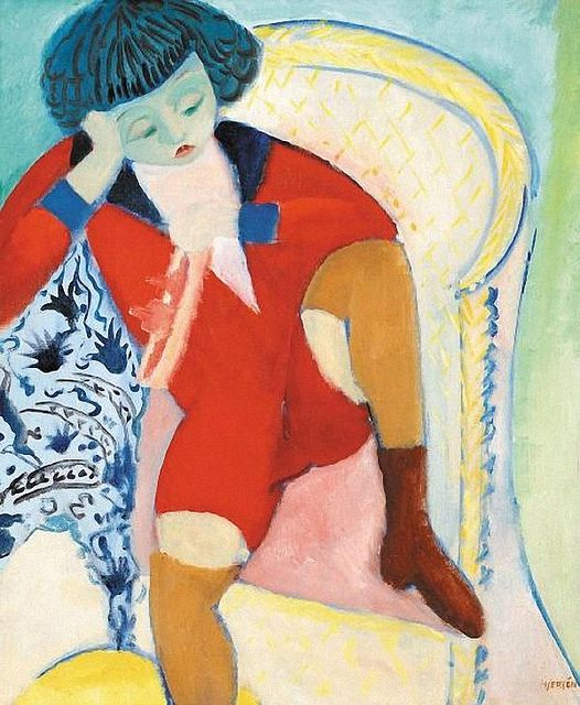 Hjerten, Sigrid  - Untitled. Sigrid Hjertén (27 October 1885 – 24 March 1948), was a Swedish modernist painter. Hjertén is considered a major figure in Swedish modernism. Periodically she was highly productive and participated in 106 exhibitions.