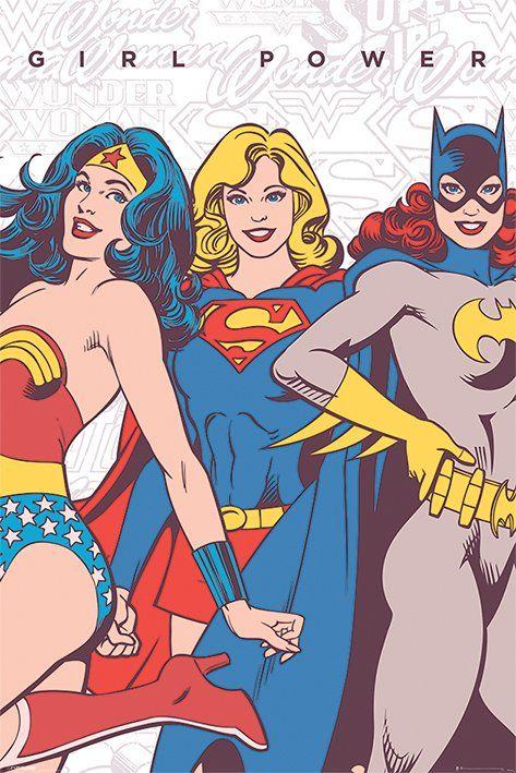 wonder woman, supergirl, batgirl poster