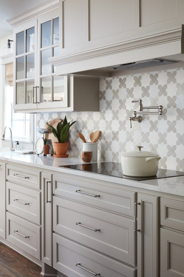 The Copp House from Fixer Upper: grey shaker-style kitchen ...