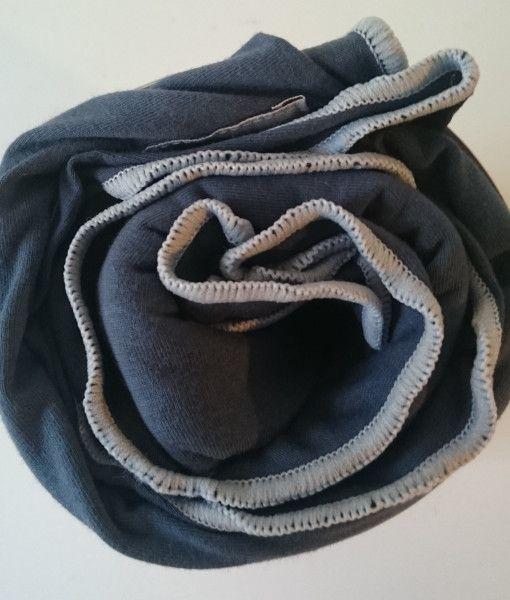 charcoal with grey trim Pod Baby Wrap