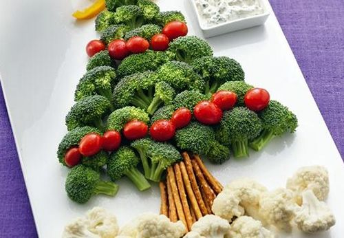 christmas broccoli tree