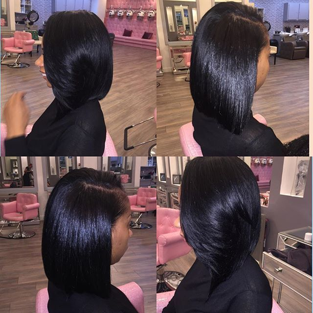 Full natural looking Bob sew-in