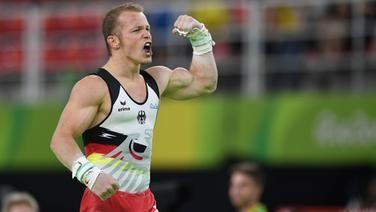 Fabian Hambüchen jubelt in Rio.