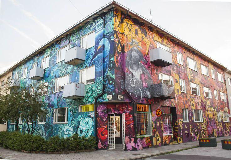 Mural at Sofiagatan / rasumsgatan , Seved Malmö , for the Color invasion streetart festival in Malmö . www.colorinvasion.nu