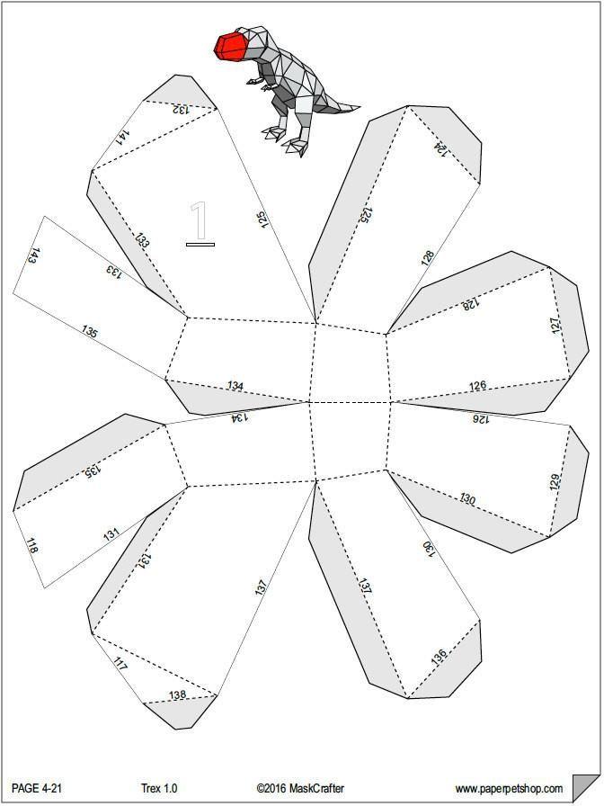 Papercraft Trex Template Paperpetshop Dinosaur Template Papercraft Templates Bug Coloring Pages