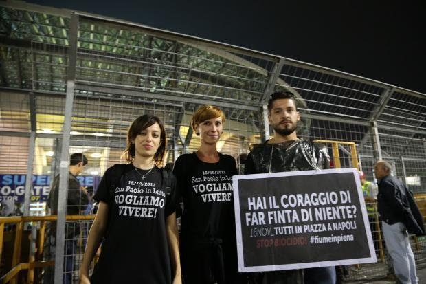 Terra dei Fuochi: la protesta si sposta al San Paolo.