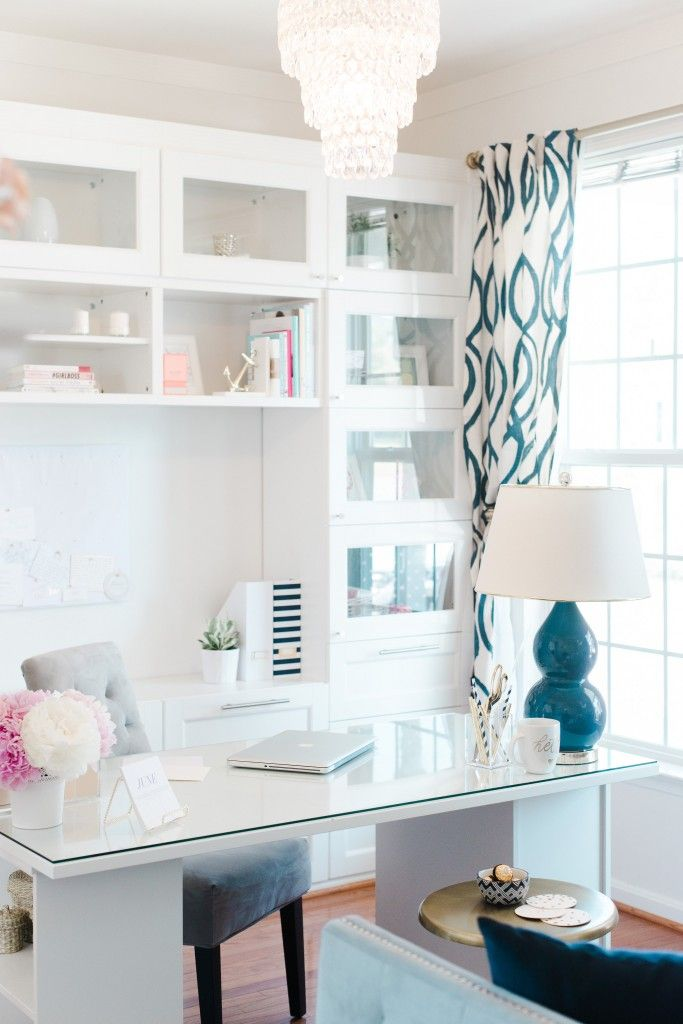 25 Best Ideas about White Desks on Pinterest  Chic desk Office